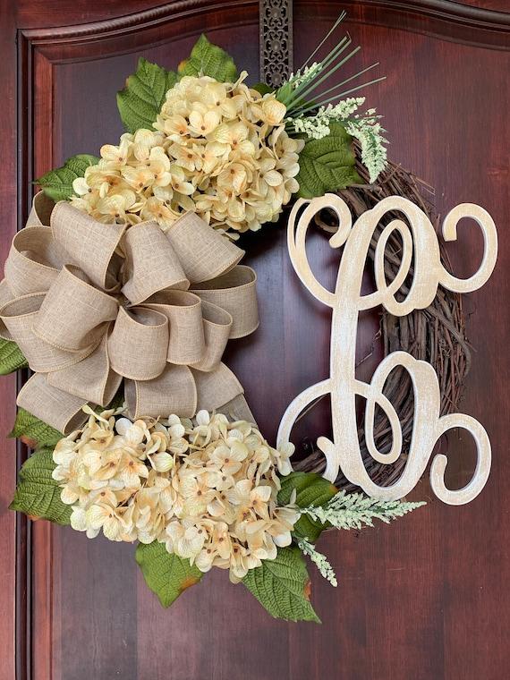 Personalized Hydrangea Everyday Wreath