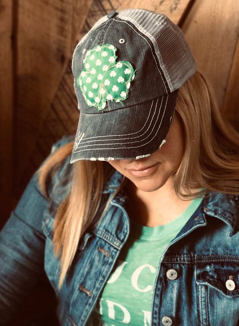 The Shamrock Trucker Lid Irish Baseball Hat St Patrick's image 0