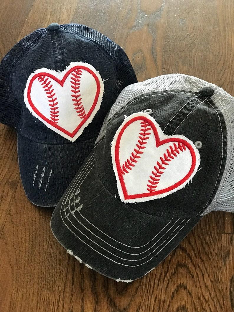 Heart Baseball Lid Custom Hat  baseball hat  baseball image 0