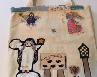 Angel themed tote bag