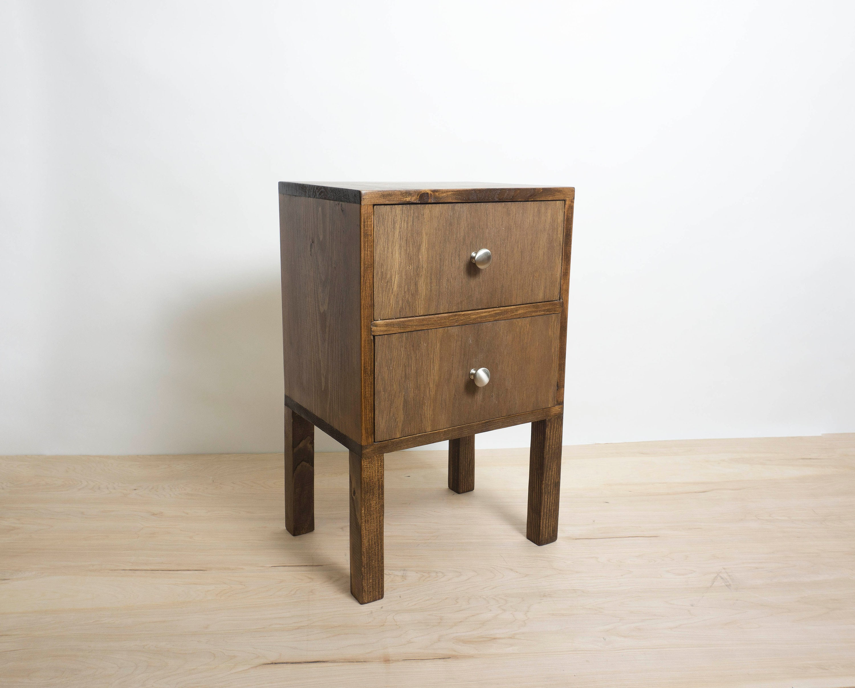 Delicieux Square Wood Nightstand, Simple Side Table, Wood Side Table, Bedside Table,  Reclaimed Wood, End Table Storage With Drawers  Walnut