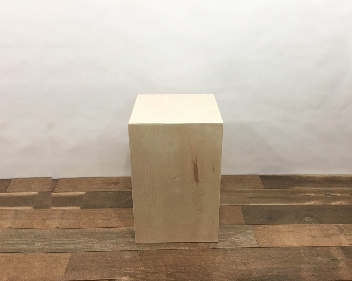 Modern solid End Table - Raw Birch