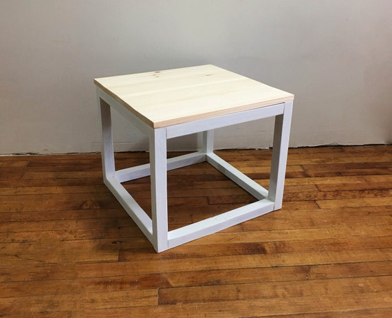 Square Coffee Table Simple Side Table Modern Coffee Table   Etsy