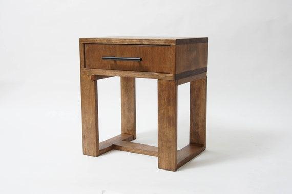 Modern Nightstands   Short Nightstand Modern Nightstands Wood Side Table Bedside Etsy