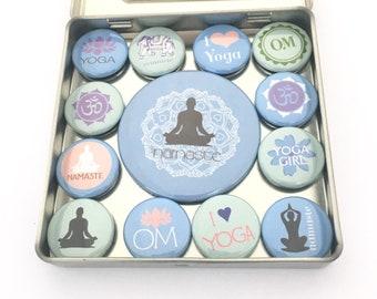 Mini Kühlschrank Yoga : Yoga magnet etsy