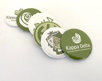 Kappa Delta -  Pocket Mirrors, Magnets, Pins and Bottle Opener Keyring
