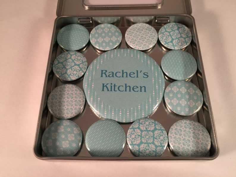 Personalized Teal Magnet Set