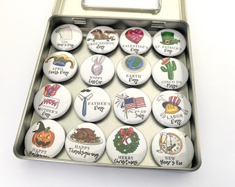 A Year in Holidays Magnet Set, Customizable