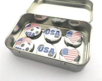 USA Soccer Magnet Set