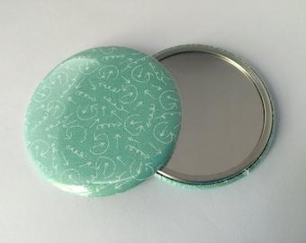 Arrow Fabric Pocket Mirrors
