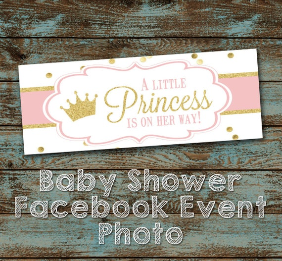 baby shower facebook event header image little princess baby etsy