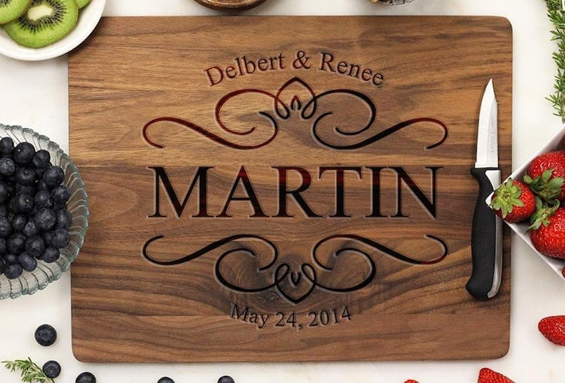 Personalized Cutting Board Cutting Board Engraved Cutting image 0