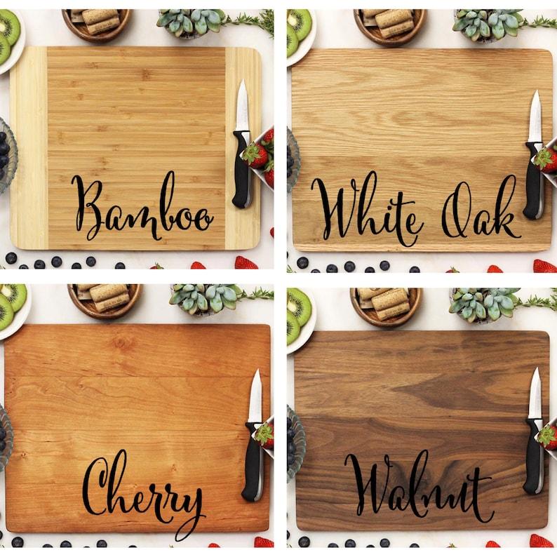Cutting Board Walnut Wood 11 x 14 --22036-CUTB-002 Personalized Monogram Cutting Board Cute Monogram Custom Engraved Cutting Board