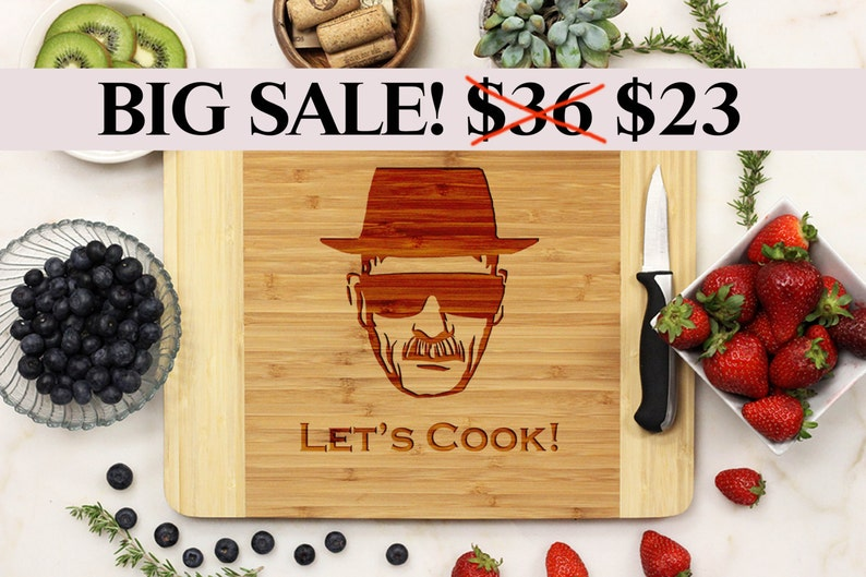 Breaking Bad Cutting Board Let's Cook Heisenberg Walter image 0