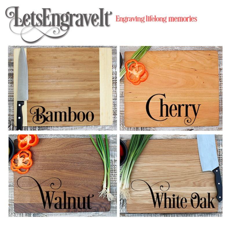 Personalized Cutting board Housewarming Gift Custom Engraved White Oak wood First Home Kitchen Decor Newlywed Gift --21125-CUTB-004