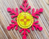 Zia Snowflake Ornament, U...