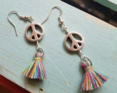 Tassel Peace Sign Silver ...