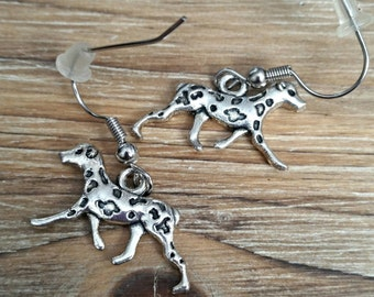 Dalmatian Spotted Dog Earrings