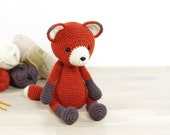 PATTERN Red Fox - Amigurumi fox pattern - Crochet tutorial with photos (EN-051)