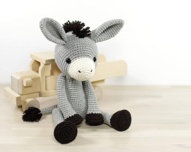 PATTERN: Donkey  Amigurumi crochet pattern and tutorial image 0