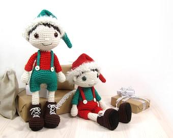 PATTERN: Christmas Elf - Amigurumi doll pattern - Crochet tutorial with photos (EN-056)