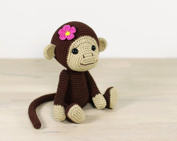 Amigurumi Crochet Monkey Pattern Johnny the Monkey Softie | Etsy | 453x570