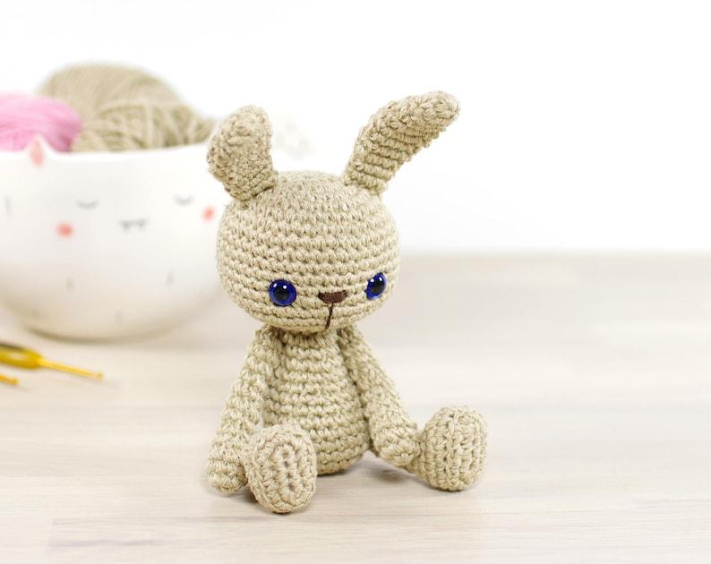 PATTERN: Small bunny  4-way jointed amigurumi bunny rabbit  image 0