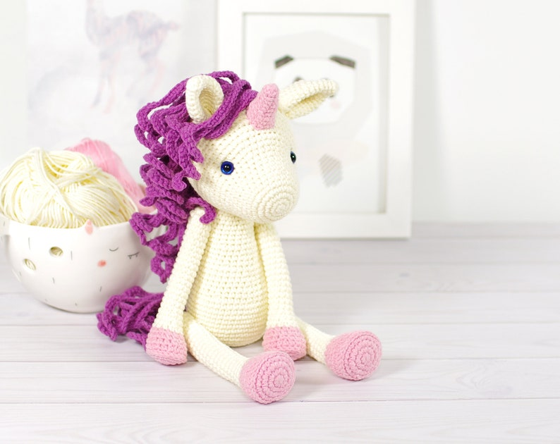 PATTERN: Unicorn  Amigurumi crochet pattern EN-065 image 0