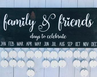 Family Celebration Sign Celebrations Board Ready to ship Mother/'s Day Gift Wood Calendar Birthday Calendar Perpetual Calendar