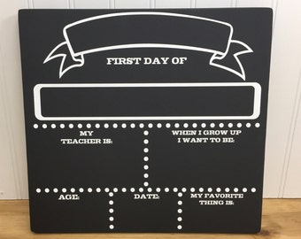 Personalized First Day of School Sign - First Day of School Chalkboard - Back to School Chalkboard - Back to School Sign