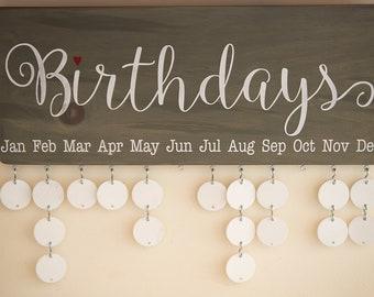 Family Birthday Board - Birthday Calendar - Family Calendar - BD001W18