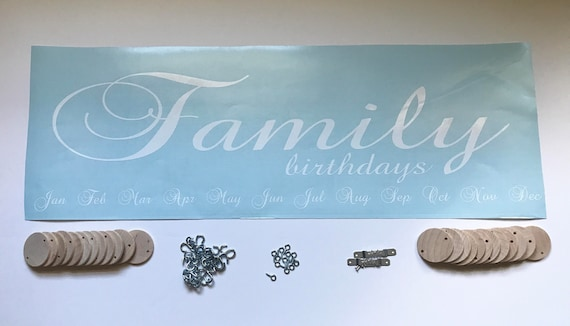 DIY Family Birthdays Board Kit Do It Yourself