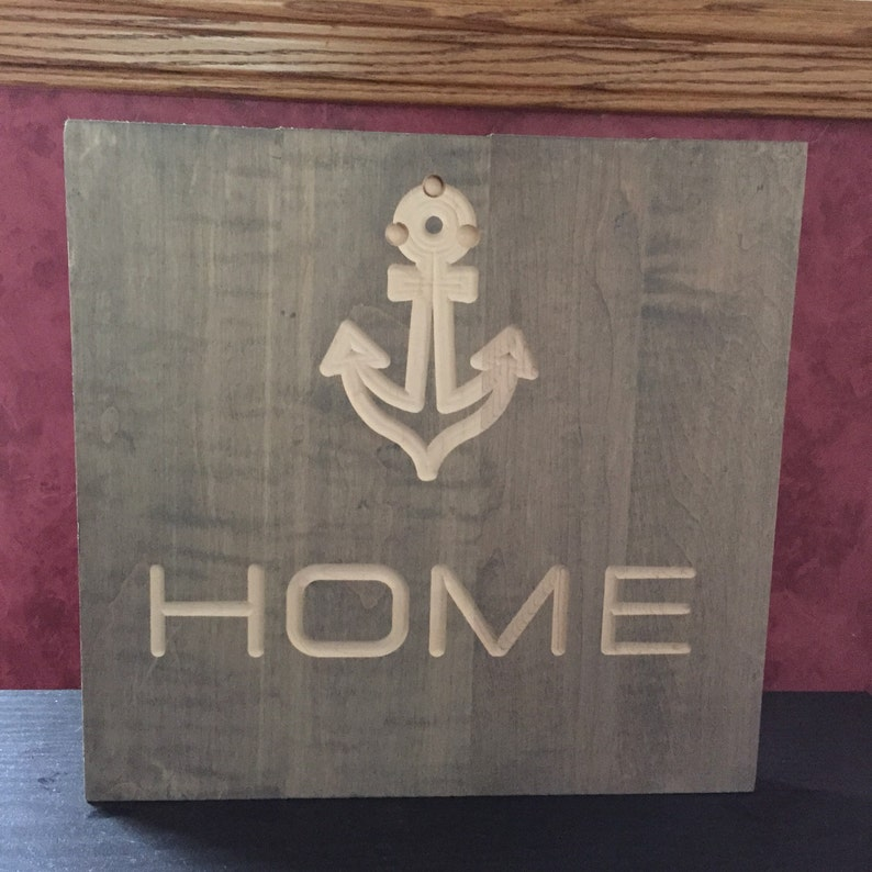 Nautical Home sign with anchor image 0