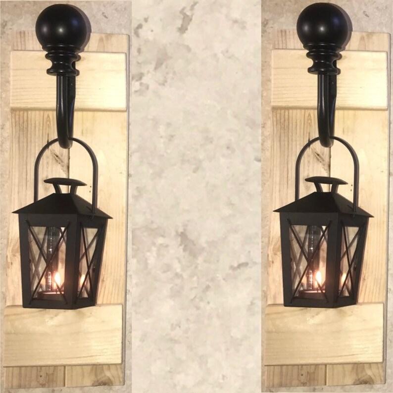 Rustic Lantern Wall Sconces image 0