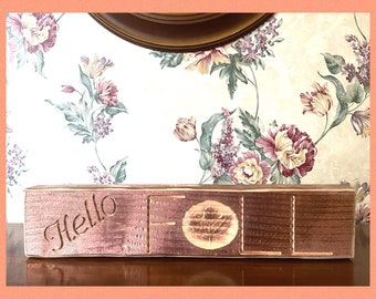 Hello Fall sign with Maple leaf carving / shelf sitter sign