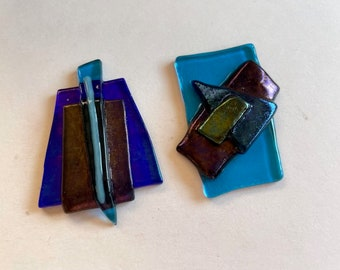 Fused Glass For Pendants - Dichroic Glass Pieces - Fused Art Glass Embellishments
