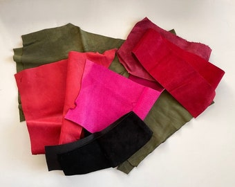 Colored Leather Remnants - Scrap Leather Pieces - Leather For Crafts