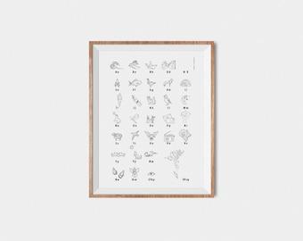 Faroese Alphabet Poster