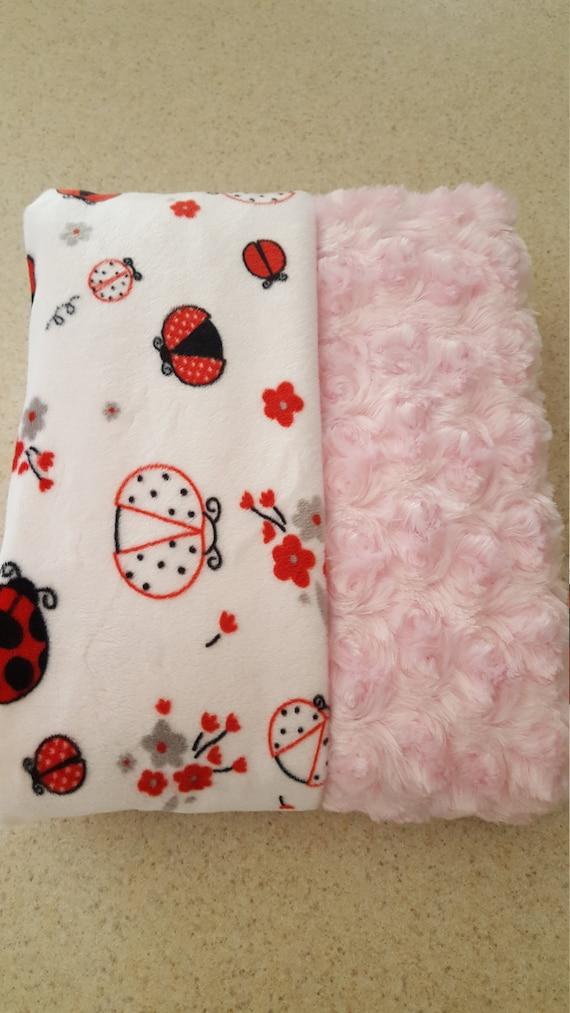79da62b509 Plush throw baby blanket baby shower gift Flannel and minky