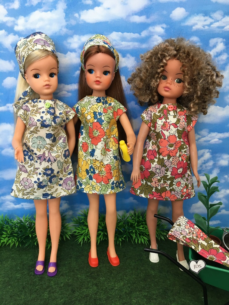 Liberty dress and headscarf for Sindy Barbie and friends  image 0