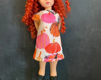 Pumpkin Dress for Sindy and friends. ( Adult collectors.)