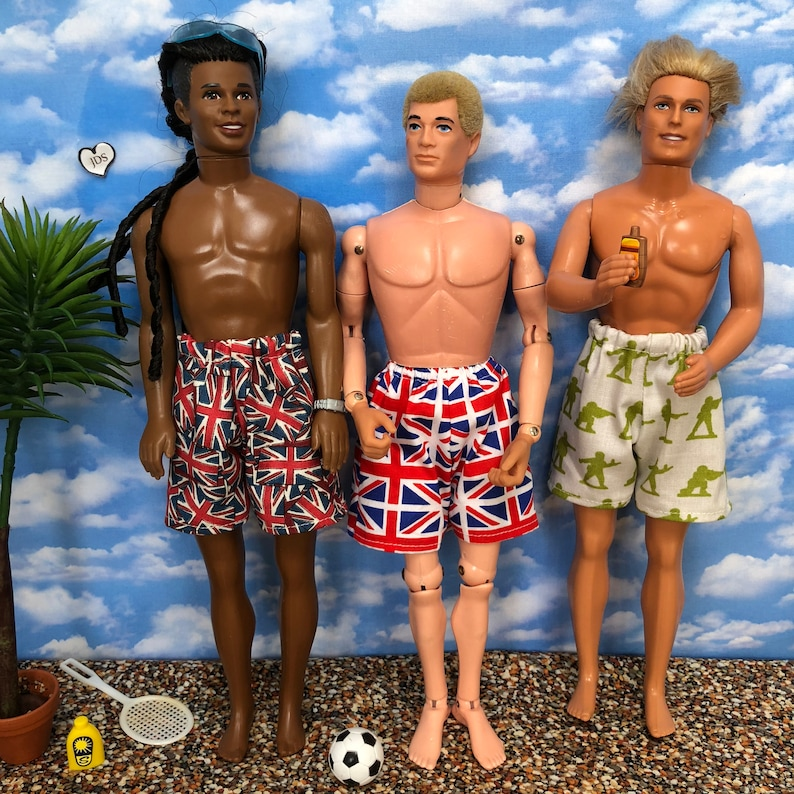 Snazzy shorts for Action man Ken Paul and chums Adult image 0