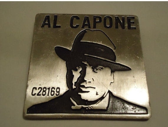 Auf Verkauf seltene Al Capone Gangster Sammler Vintage Gürtelschnalle