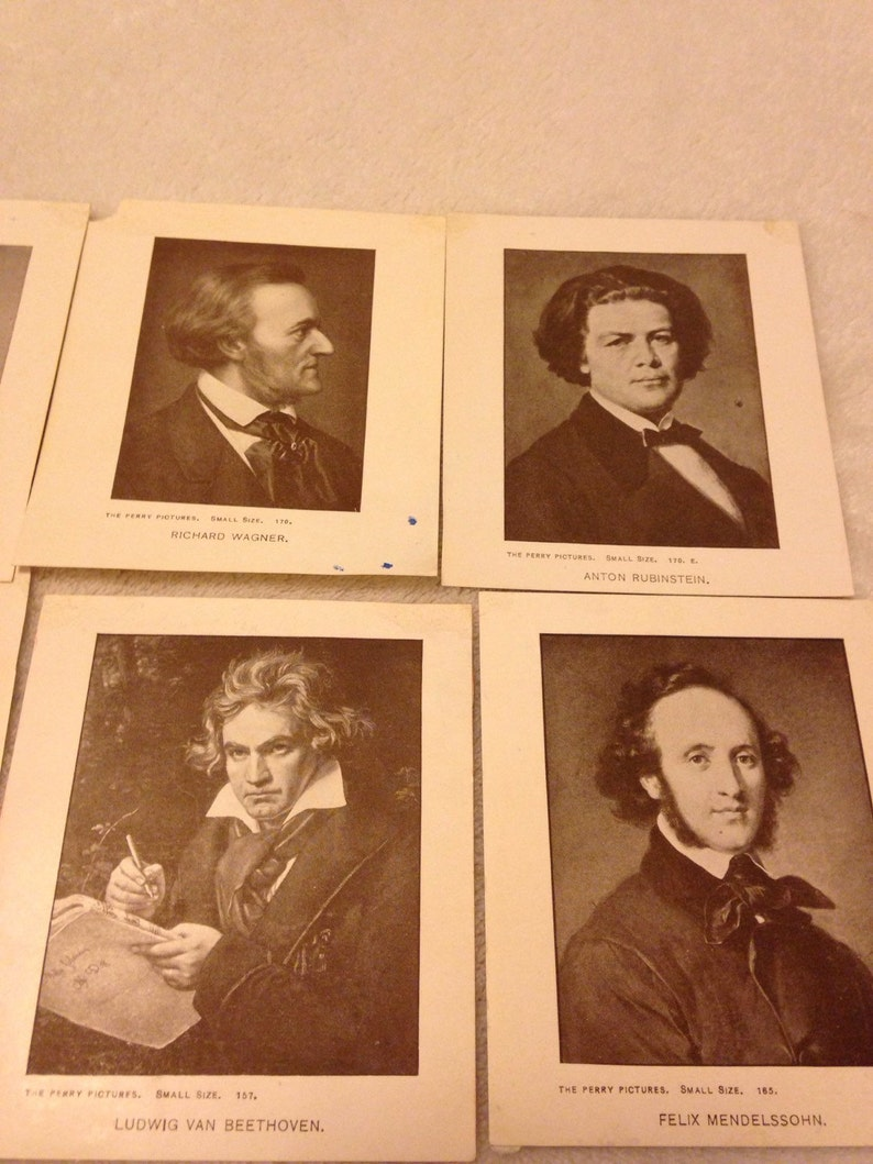 The Perry Pictures 1900 Famous People Photos LOT