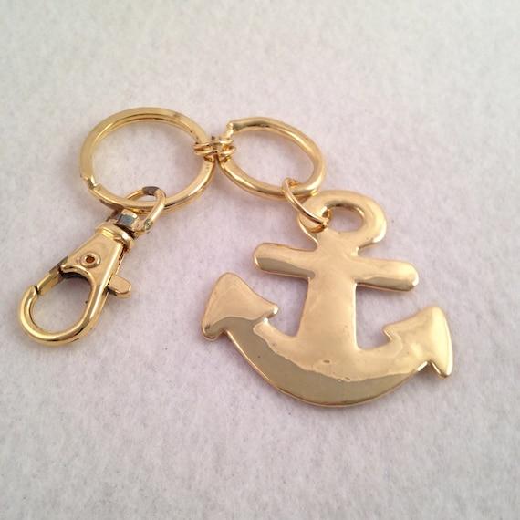 Metal Anchor Keychain  Nautical Anchor Keychain Br