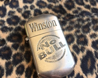 Vintage Winston No Bull Lighter Collectible