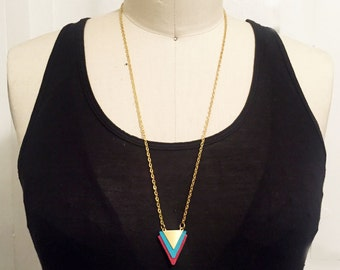 Leather and Metal Mix Necklace