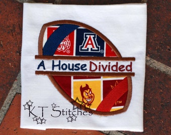 Arizona State University/University of Arizona Rivalry House Divided Bodysuit or T-Shirt - Personalized