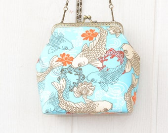 46a49aa967 Koi fish large makeup bag