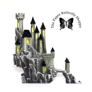 handmade scrapbook embellishment Disney castle \u2013 Snow White/'s castle from the animated movie